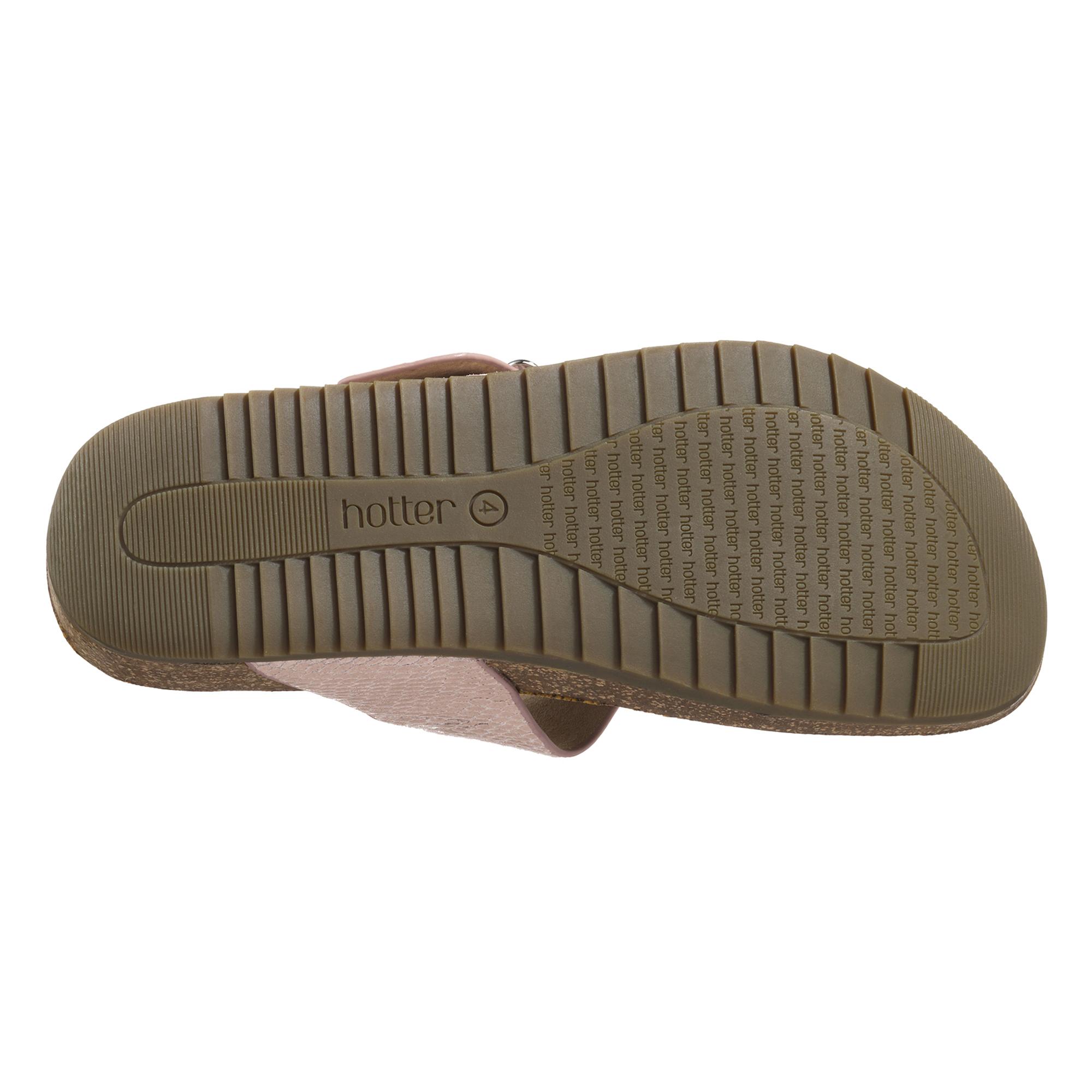 Hotter-Mujer-Resort-Senora-Toe-Post-Sandalias-Verano-Calzado-Casual-Cuero-Textil