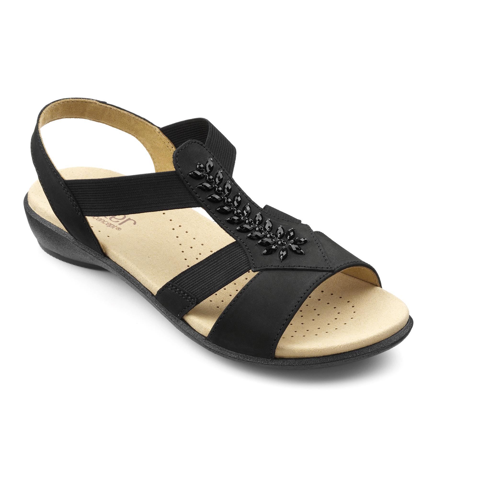 Hotter-Mujer-Beam-Senoras-Tacon-Bajo-Sandalias-Verano-Casual-Calzado
