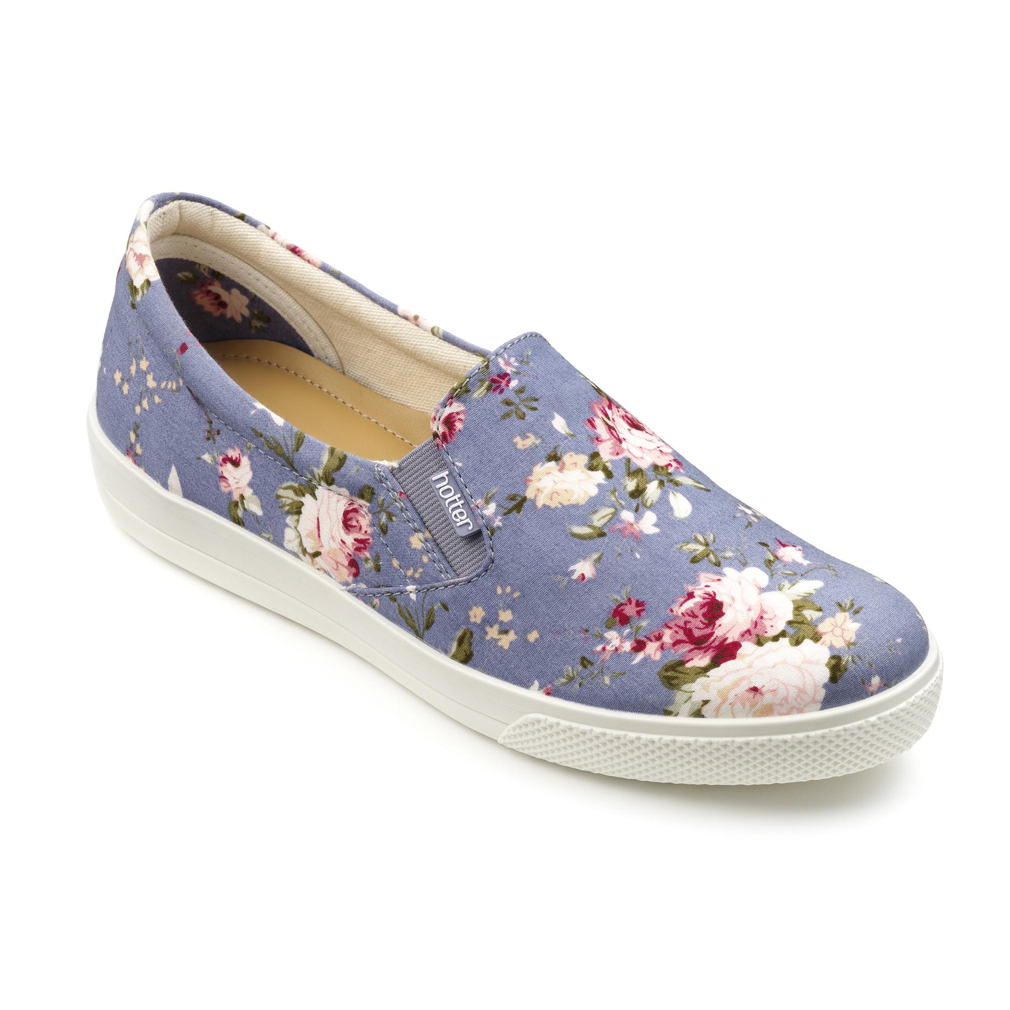 Hotter-Mujer-Tara-Senoras-Casual-Zapatos-Calzado-Zapatillas-Liso-Canvas