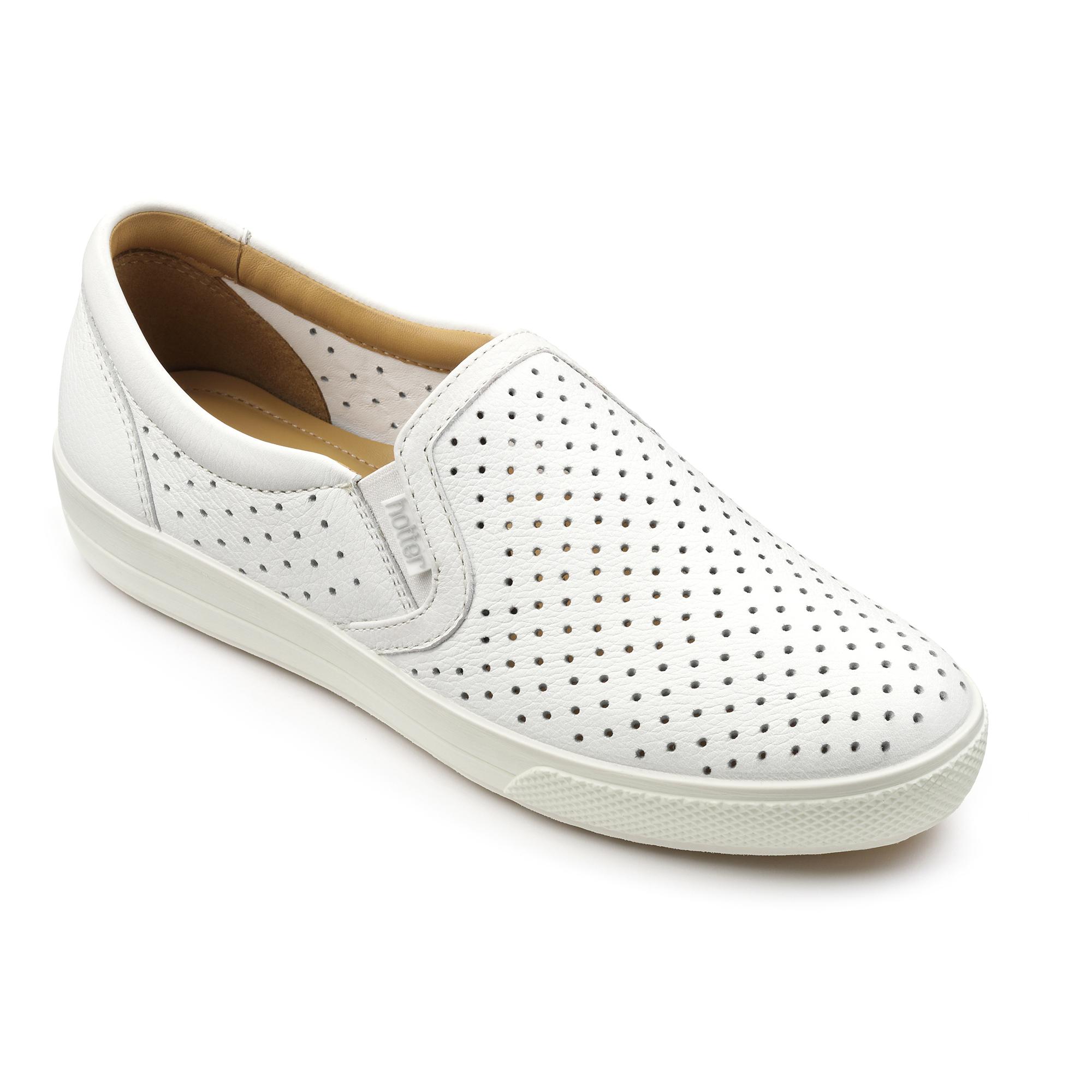 Hotter-Mujer-Daisy-Senora-Casual-Ponerse-Zapatos-Calzado-Zapatillas-Cuero-Textil