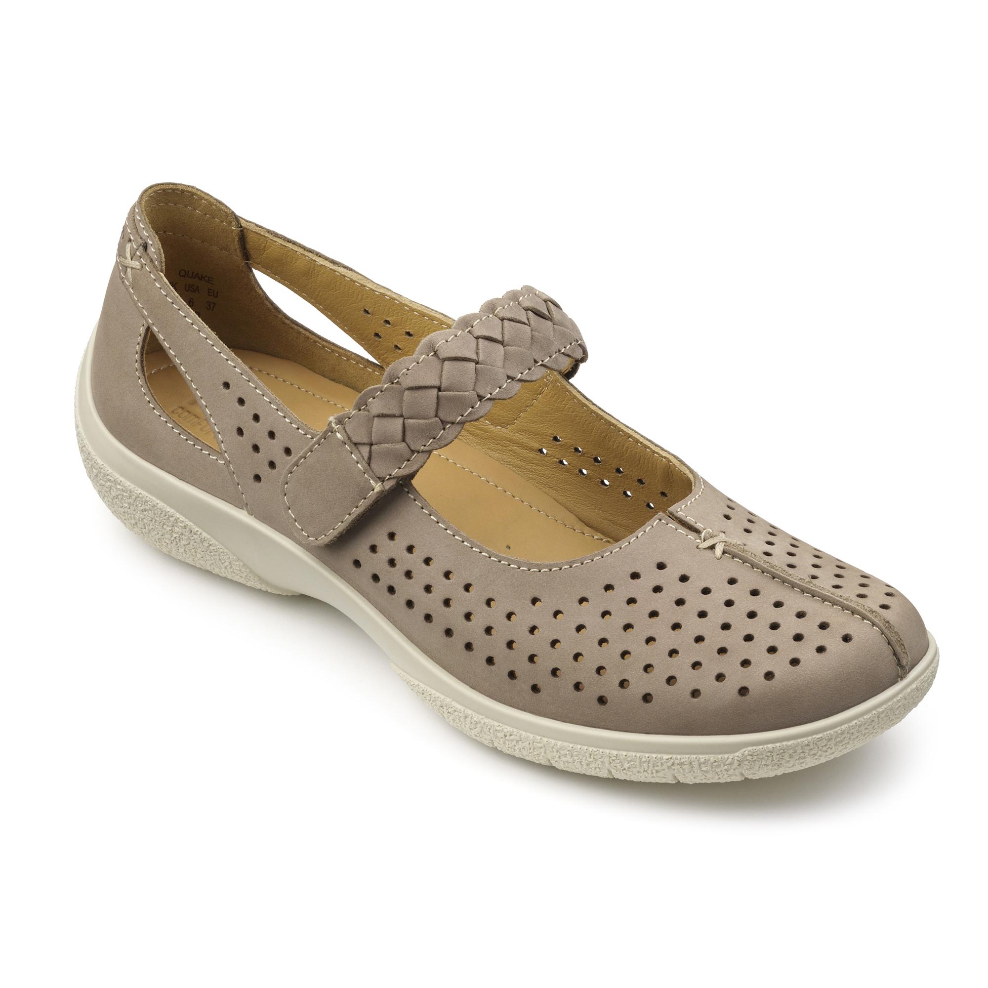 Hotter-Mujer-Quake-Senoras-Casual-Zapatos-Calzado-Zapatillas-Cuero