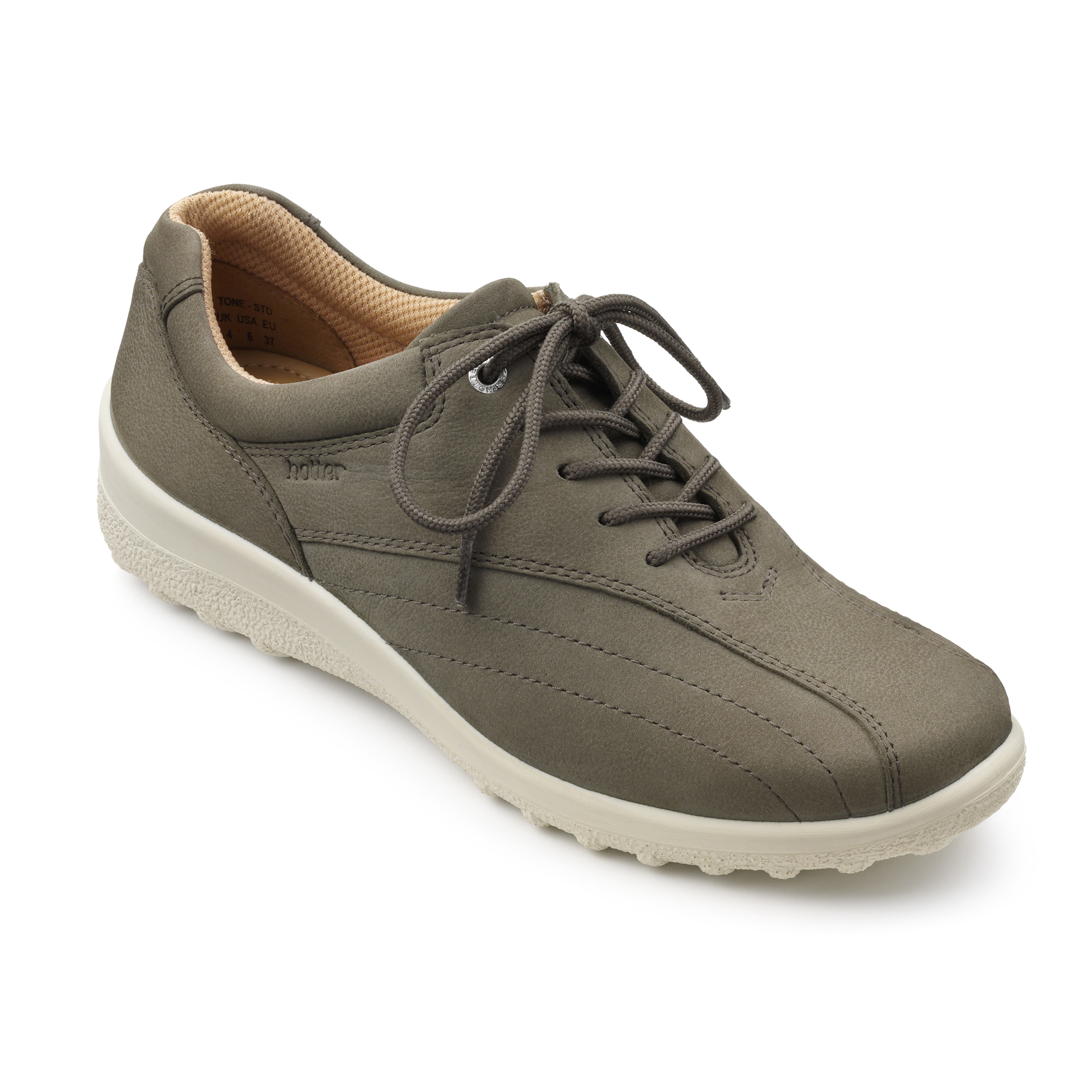 Hotter-Mujer-Tone-Senoras-Casual-Zapatos-Calzado-Zapatillas-Cuero-Textil